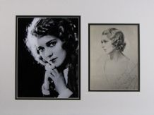 Mary Pickford Autograph Signed Photo Display